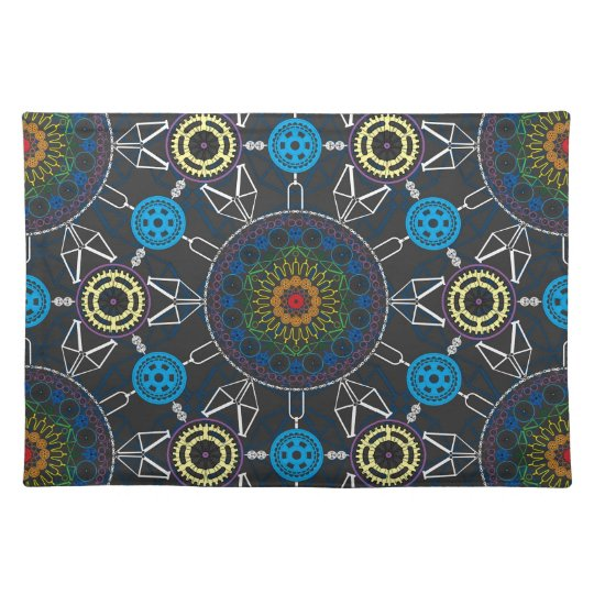 Bicycle Mandala Array Placemat