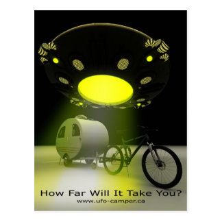 Bicycle Mini Camper Mark II Design UFO Promo 2 Postcards