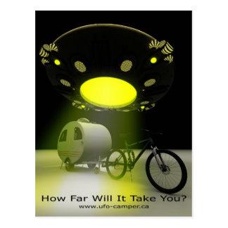 Bicycle Mini Camper Mark II Design UFO Promo 2 Postcard