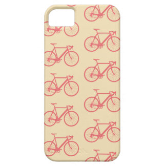 Bicycle Modern Silhouette Coral and Ivory Pattern iPhone 5 Cases