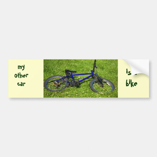 bicycle, my other car, is abike bumper sticker