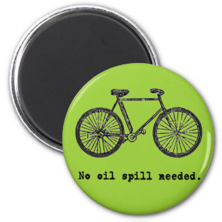 Bicycle  No Oil Spill Needed Tshirts and Mugs 6 Cm Round Magnet