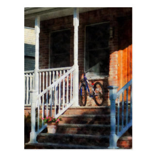 Bicycle on Porch Postcard