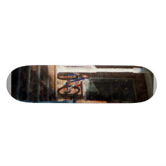 Bicycle on Porch Skate Board Deck
