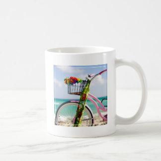 Bicycle On The Beach | Miami, Florida Coffee Mug