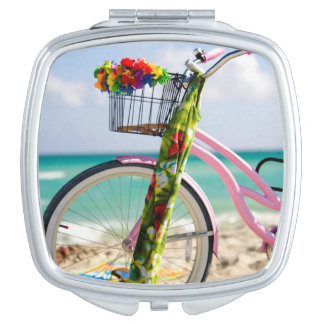Bicycle On The Beach | Miami, Florida Mirrors For Makeup