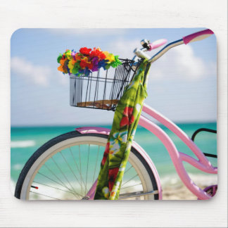 Bicycle On The Beach | Miami, Florida Mouse Mat