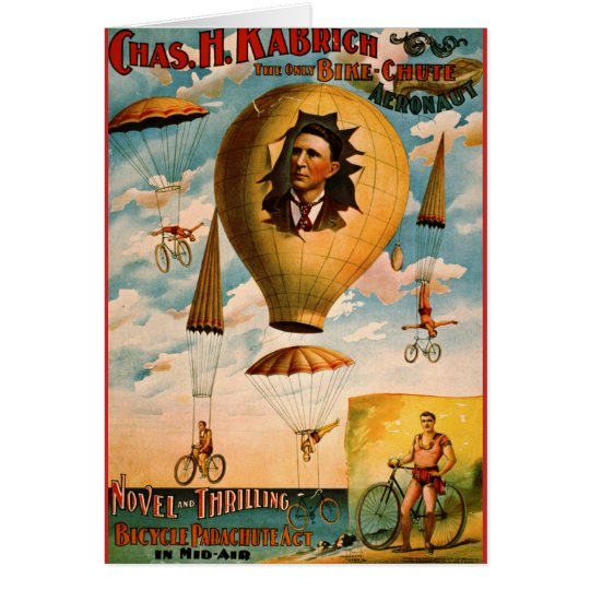 Bicycle Parachute Act 1896 Card