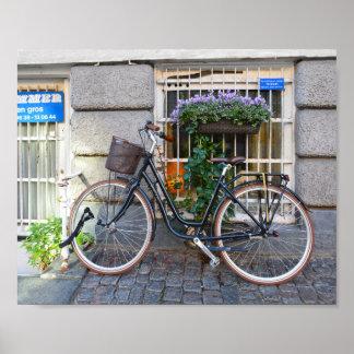 Bicycle Parking Prohibited, Copenhagen, Denmark Poster