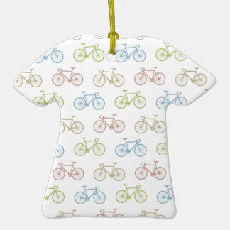 Bicycle Pastel Hipster Pattern Christmas Tree Ornament