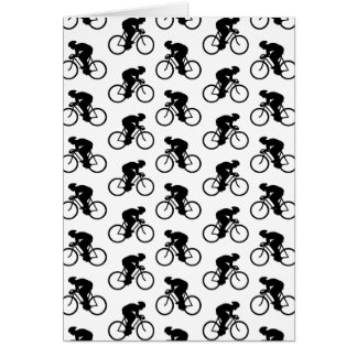 Bicycle Pattern in Black and White. Greeting Card