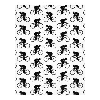Bicycle Pattern in Black and White Custom Flyer