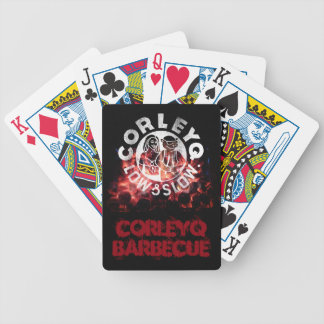 """Bicycle playing cards with CorleyQ """"Fire"""" design."""