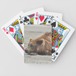 Bicycle® Poker Playing Cards with sleeping bear
