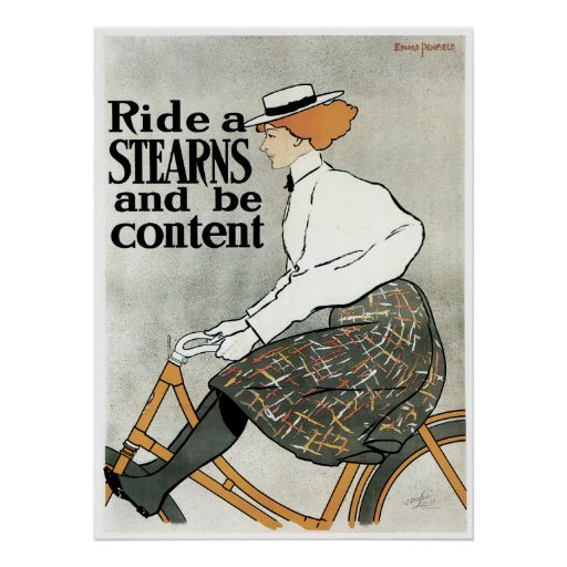 Bicycle Poster: Sterns - by Penfield Poster