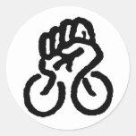 Bicycle Power! Round Sticker