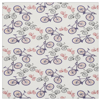 Bicycle Print Design Fabric