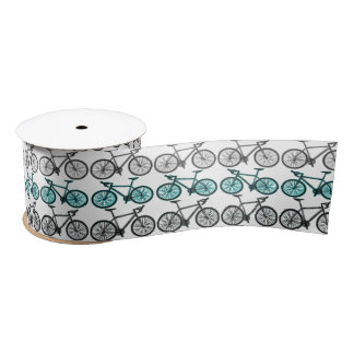 Bicycle Print Design Satin Ribbon
