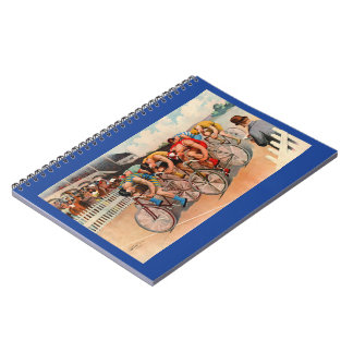 Bicycle Race 1895 Spiral Notebook