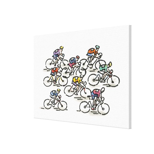 Bicycle Race Gallery Wrap Canvas