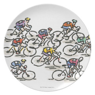 Bicycle Race Dinner Plates