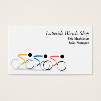 Bicycle Race Logo Business Card