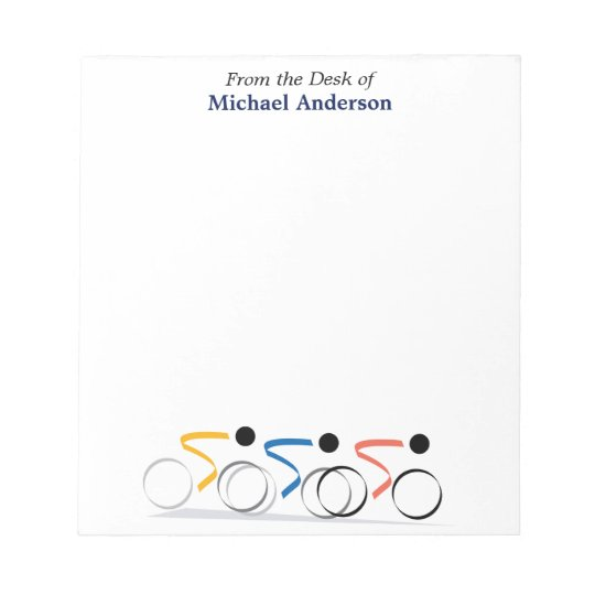 Bicycle Race Logo Personalised Notepad