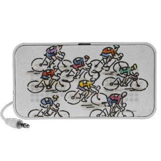 Bicycle Race Notebook Speakers