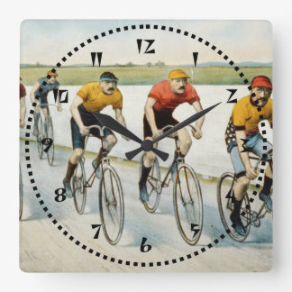 Bicycle Race Square Wall Clock