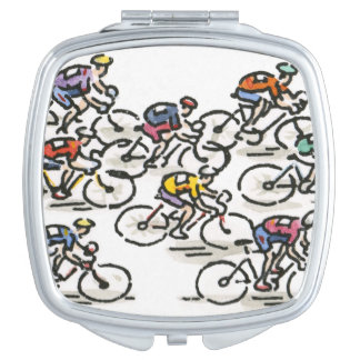 Bicycle Race Travel Mirror