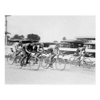 Bicycle Race Washington D C 1925 Postcard