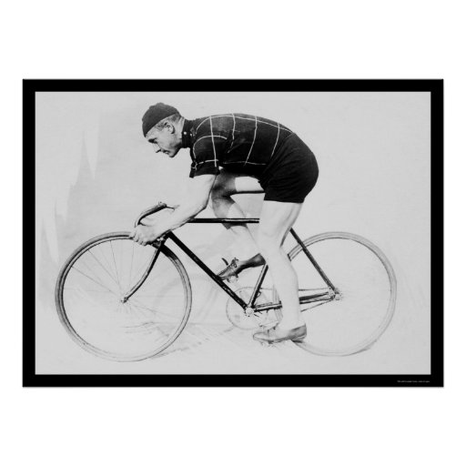 Bicycle Racer, Norman Anderson 1914 Poster