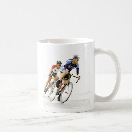 Bicycle Racers Classic White Coffee Mug