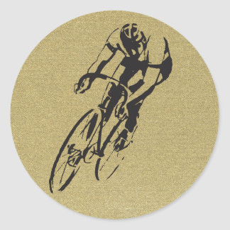 Bicycle Racing Round Sticker
