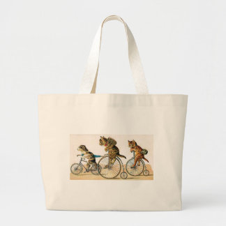 Bicycle Ride Large Tote Bag