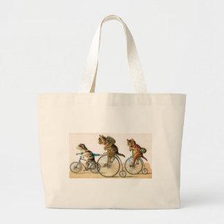 Bicycle Ride Large Tote Bag