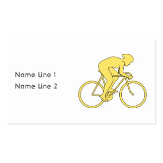 Bicycle Rider in Yellow. Business Card Template