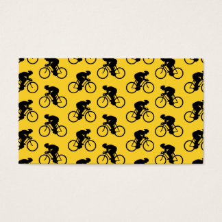 Bicycle Rider Pattern. Yellow and Black.