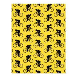 Bicycle Rider Pattern Yellow and Black Personalized Flyer
