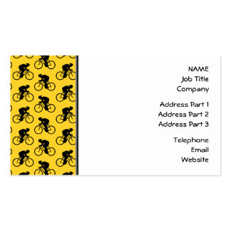 Bicycle Rider Pattern. Yellow and Black. Pack Of Standard Business Cards