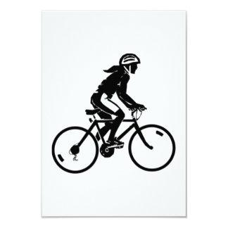Bicycle Riding 9 Cm X 13 Cm Invitation Card