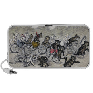 Bicycle Riding Cats iPod Speaker