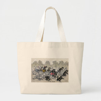 Bicycle Riding Cats Large Tote Bag