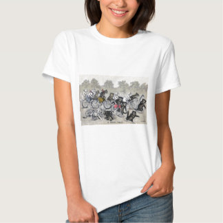 Bicycle Riding Cats T-shirts
