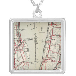 Bicycle Roads in New York and Conneticut 11 Silver Plated Necklace