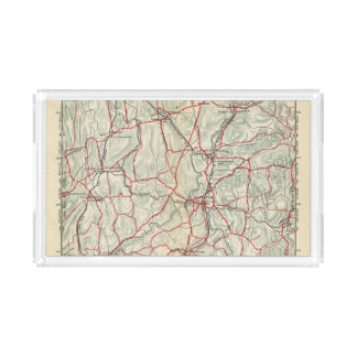 Bicycle Roads in New York and Conneticut 12 Acrylic Tray