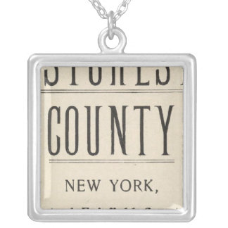 Bicycle Roads in New York and Conneticut 13 Silver Plated Necklace