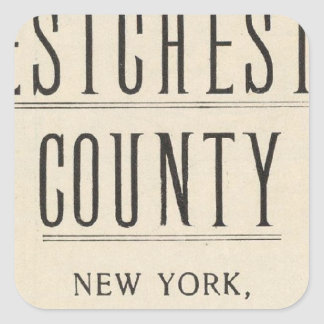 Bicycle Roads in New York and Conneticut 13 Square Sticker
