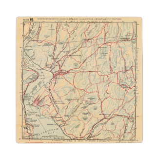 Bicycle Roads in New York and Conneticut 2 Maple Wood Coaster