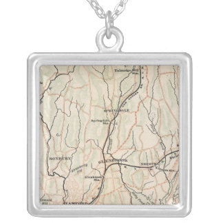 Bicycle Roads in New York and Conneticut 2 Silver Plated Necklace